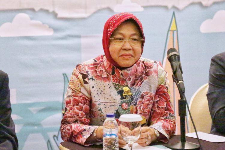 Risma Kampanyekan Surabaya Bebas Sampah