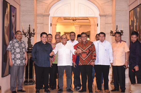 TKN Jokowi-Ma'ruf Konsolidasi Pemenangan di Rumah Ical