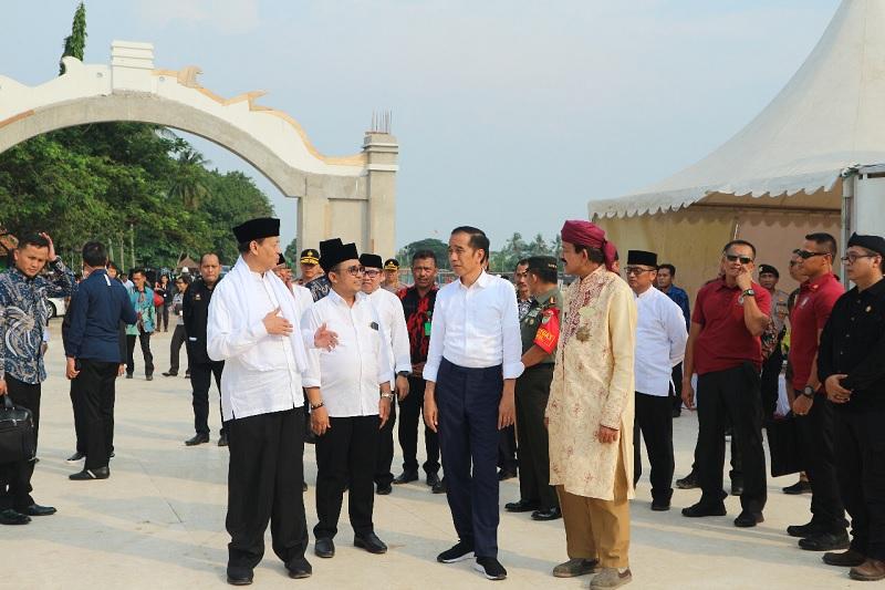 Presiden Jokowi Tinjau Revitalisasi Situs Kesultanan Banten