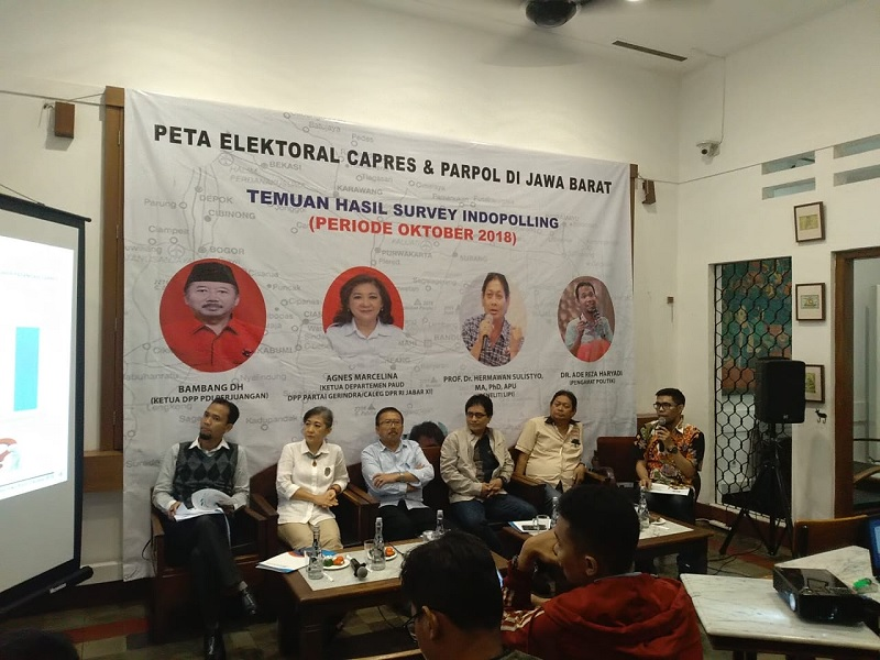 PDI Perjuangan dan Jokowi-Ma'ruf Unggul di Jawa Barat