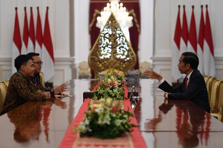 Presiden Terima Eko Yuli Irawan di Istana Merdeka
