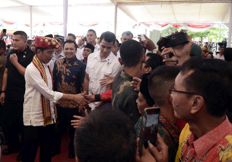 Presiden Senang Bersilaturahim dengan Masyarakat Lampung