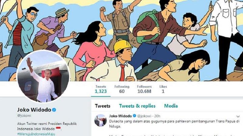 Akun Twitter Jokowi Paling Banyak Dibicarakan Sepanjang 2018