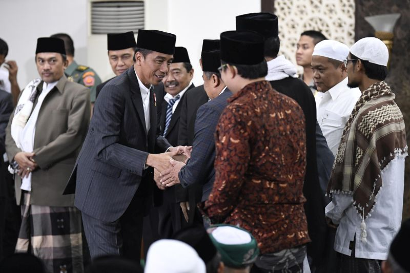 Jokowi Sebut Dukungan Ulama Sesuatu yang Sangat Baik