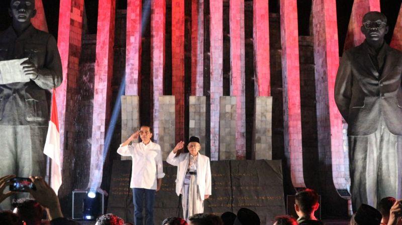 Survei: Elektabilitas Jokowi-Ma'ruf Tertinggi di Jatim