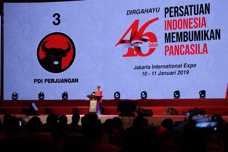 Rakornas PDI Perjuangan Dihadiri Sejumlah Menteri