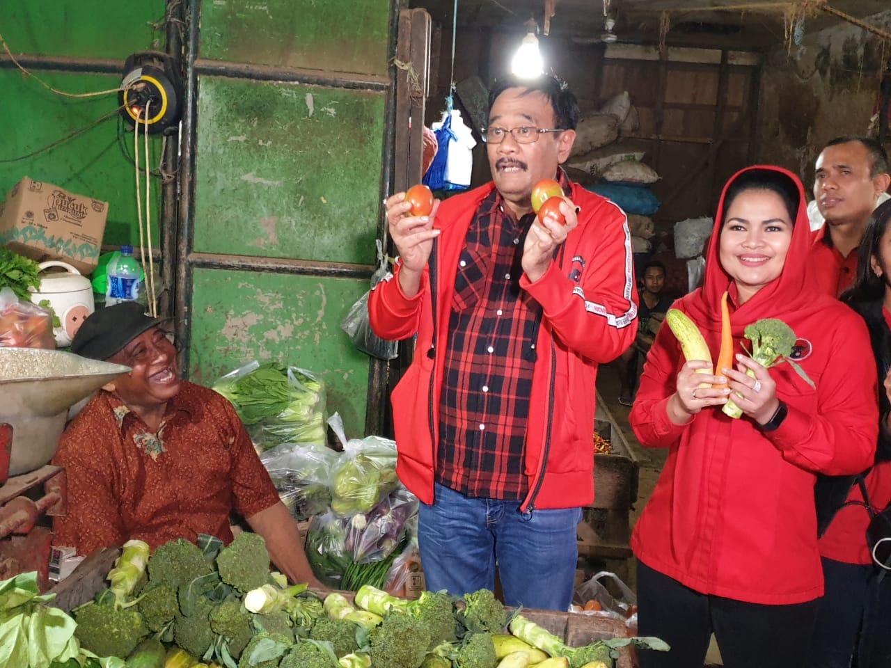 Djarot ke Pasar Keputran, Pedagang Ucapkan Terima Kasih