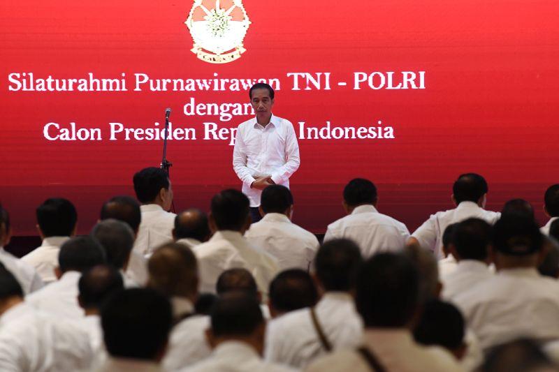 Jokowi: Dukungan Purnawirawan TNI-Polri Tambah Semangat