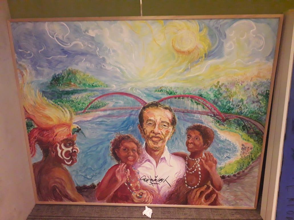 Lukisan 'Potret Diri Jokowi' Laku Rp 2 Miliar