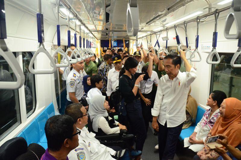 Presiden Pastikan MRT Siap Layani Masyarakat