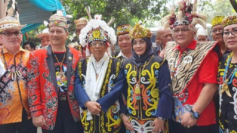Kiai Ma'ruf Dapat Gelar Pimimpin Bijak dari Suku Dayak
