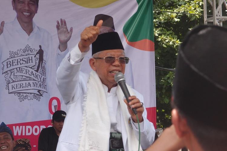 Debat Capres, Kiai Ma'ruf: Jokowi Siap Tempur