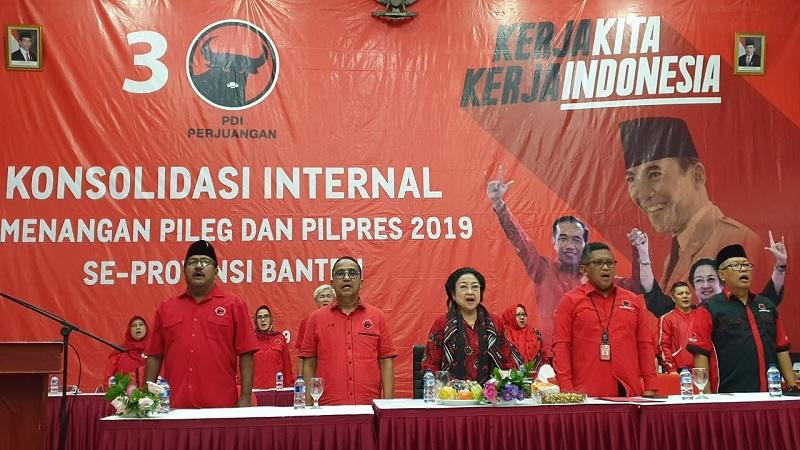 Megawati Pimpin Rapat Konsolidasi Internal di Banten