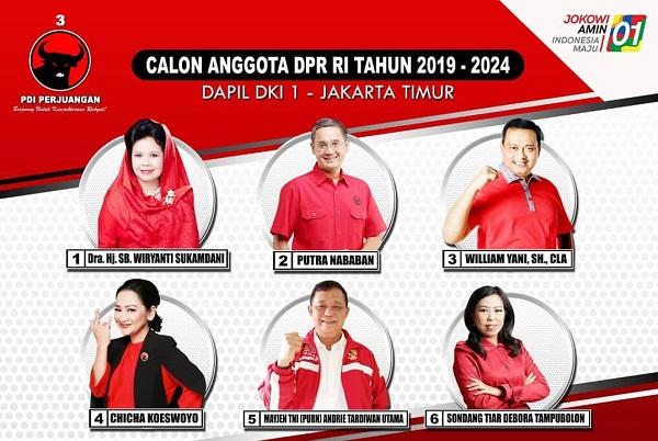Profil Caleg PDI Perjuangan di Dapil Jakarta Timur