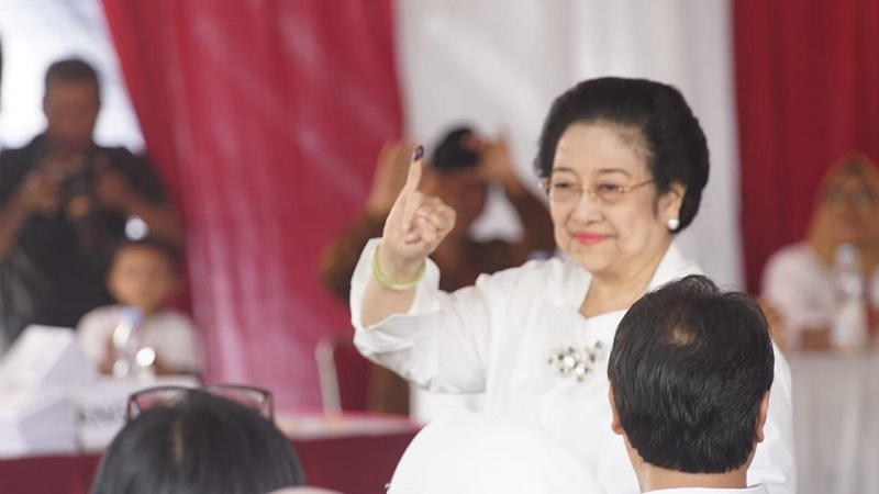 Nyoblos, Megawati Bahagia Jalankan Kewajiban Sebagai WNI