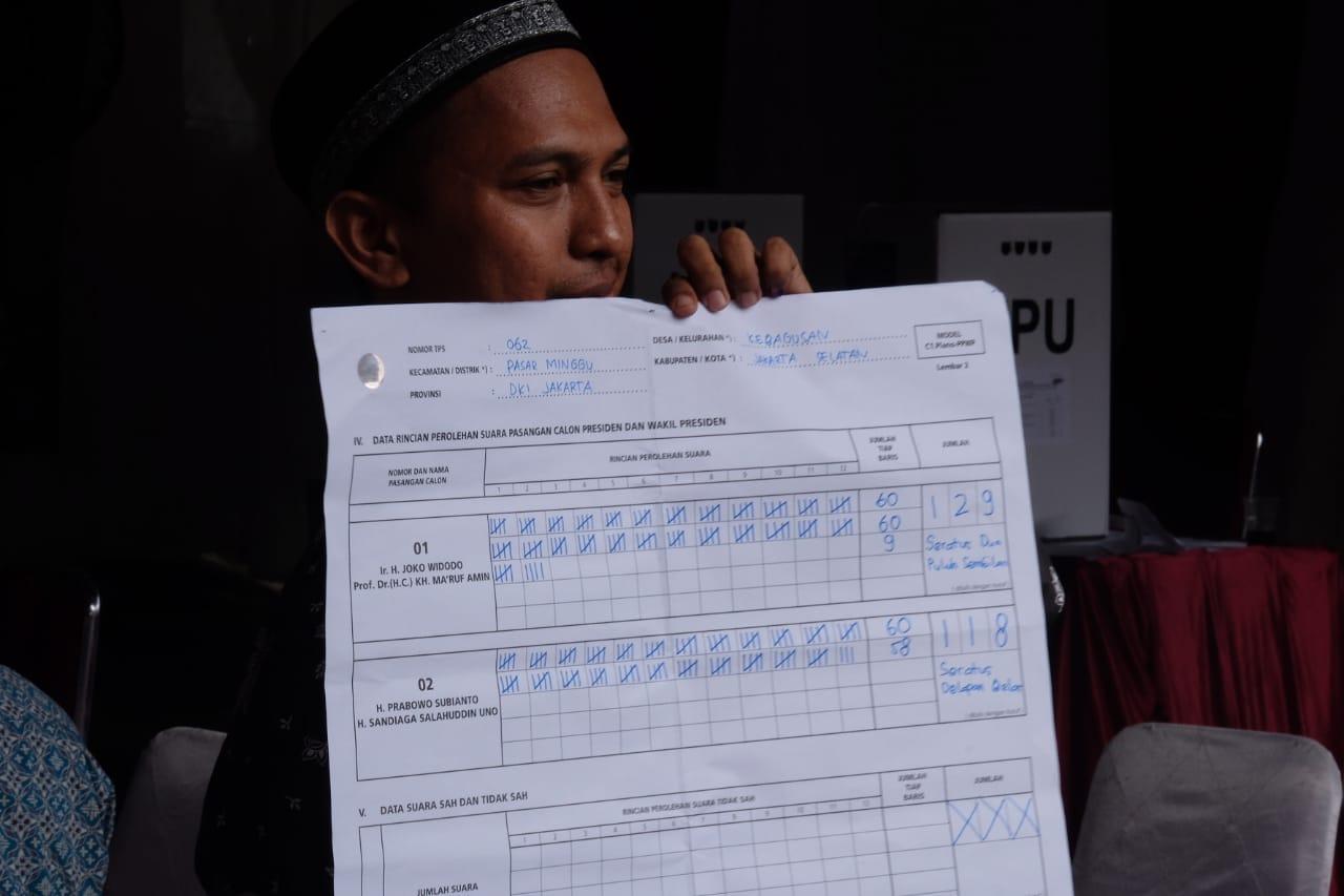 Jokowi-Ma'ruf Unggul di TPS Megawati