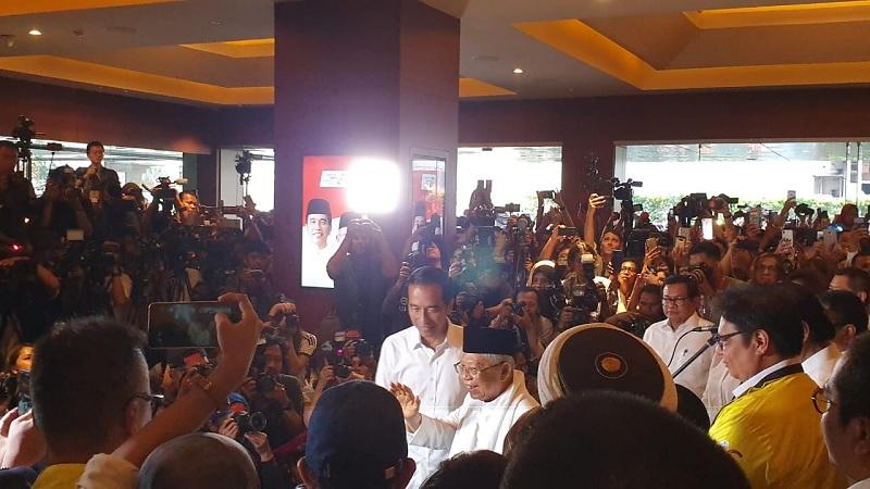 Jokowi Masih Tunggu Hasil Real Count KPU
