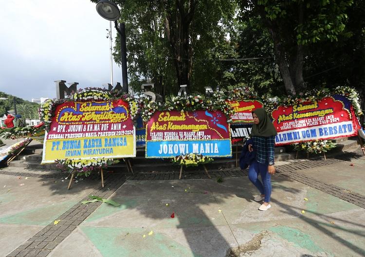 Pecah, Ratusan Simpatisan Jokowi-Ma'ruf Rayakan Kemenangan