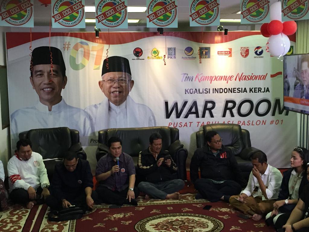 Pilpres, Jokowi-Kiai Ma'ruf Telah Kantongi 80 Juta Suara
