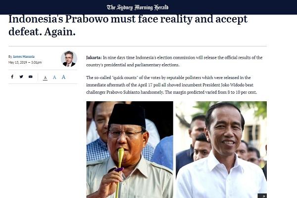 Telak, Media Asing Ledek Prabowo Belum Bisa Terima Kenyataan