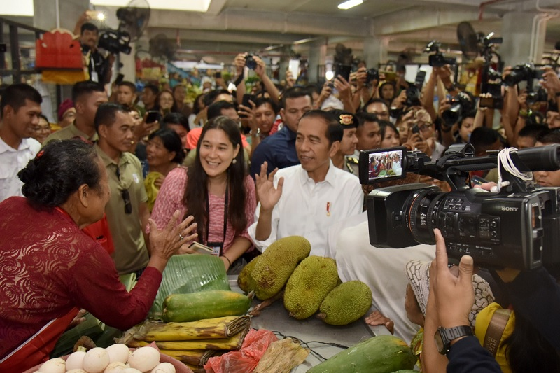 Presiden Jokowi Puji Penataan Pasar Badung di Denpasar Bali