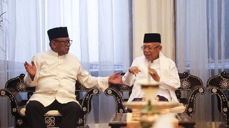 Kiai Ma'ruf: Idul Fitri Rajut Persatuan Prabowo & Jokowi