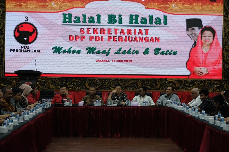 Sekretariat DPP PDI Perjuangan Gelar Halal Bi Halal