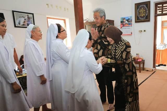 Habib Luthfi dan Ganjar Ajak Masyarakat Jaga Persatuan