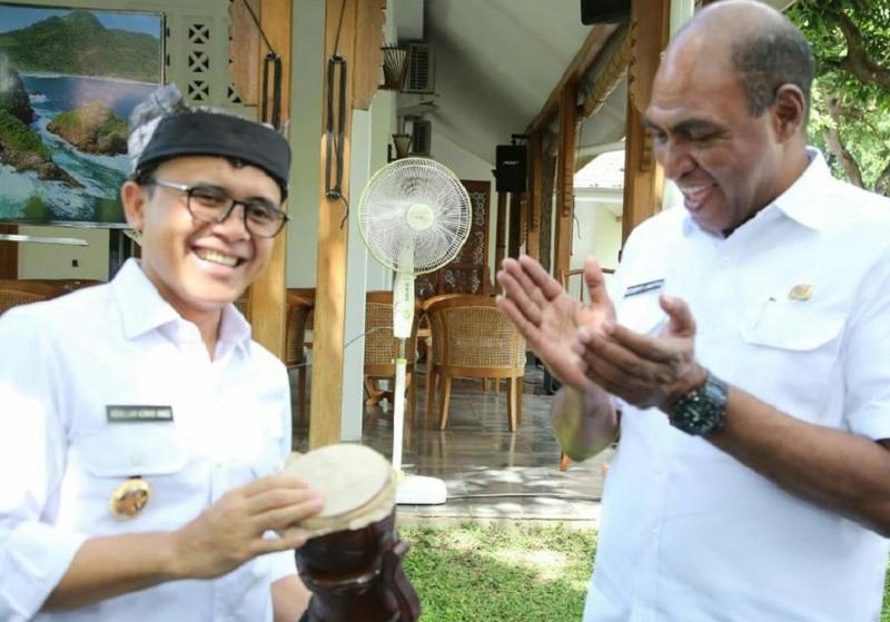 Ketemu Anas, Wagub Papua Barat Boyong Kepala Bappeda