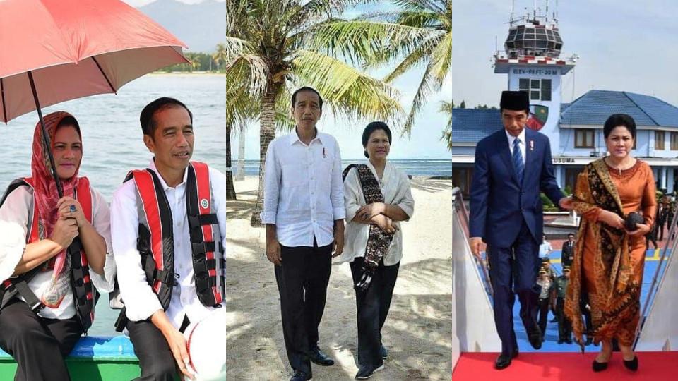 Jangan Baper, Ini 7 Potret Kemesraan Jokowi dan Iriana