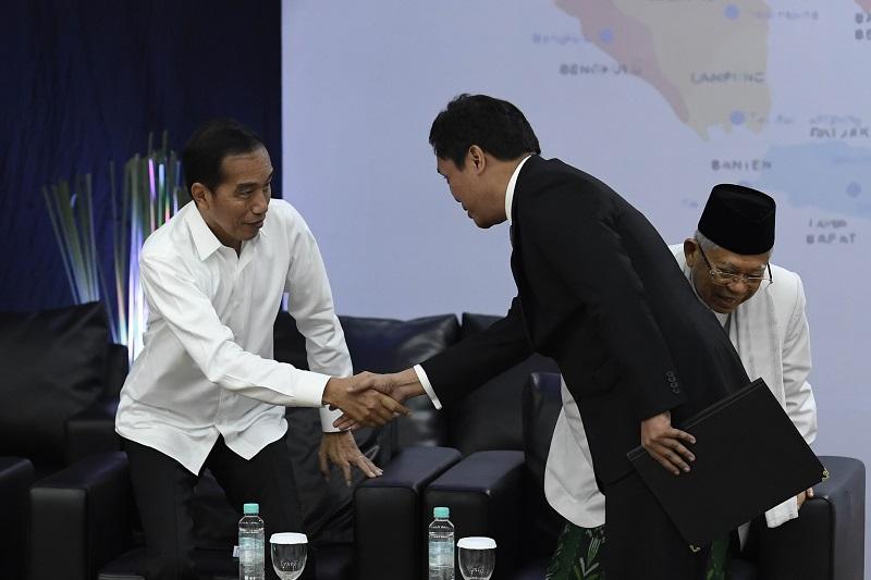 Presiden Terpilih Jokowi Terapkan Ilmu Padi Saat ke KPU