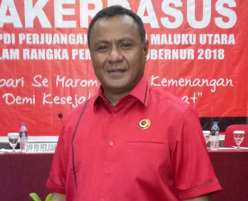 Wawali Tidore Kepulauan Pimpin DPD PDI Perjuangan Malut