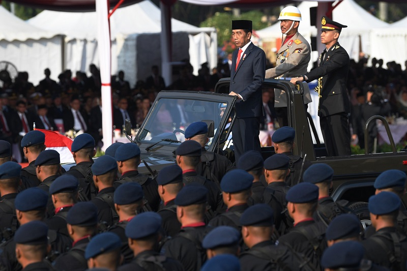 HUT ke-73 Bayangkara, Presiden Sampaikan Lima Instruksi