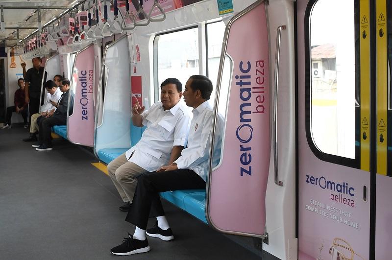 Prabowo Belum Jajal MRT Jadi Alasan Pertemuan dengan Jokowi