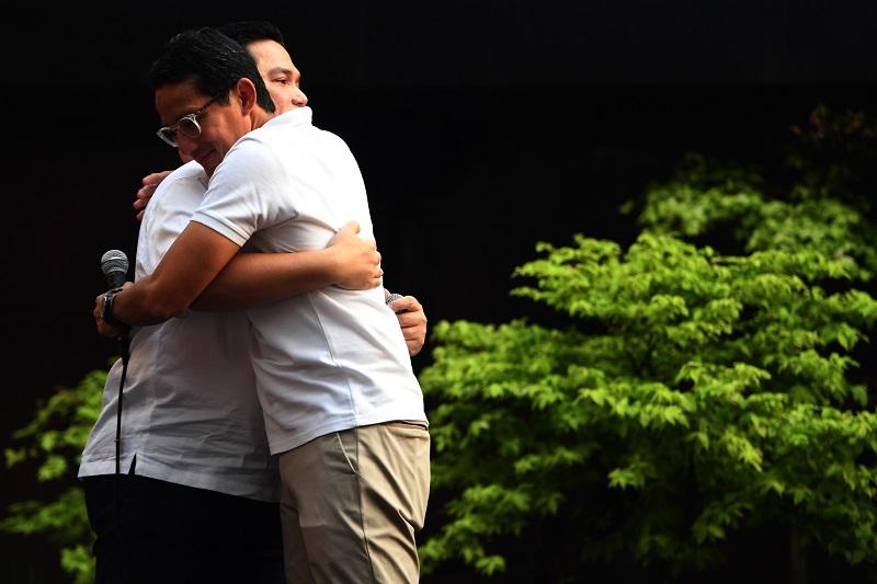 Usai Pertemuan Jokowi-Prabowo, Sandi Temui Erick Thohir