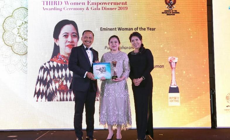 Puan Raih Gelar 'Eminent Women of the Year 2019'