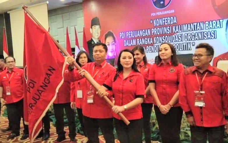 Karolin Naik Jabatan di DPD PDI Perjuangan Provinsi Kalbar
