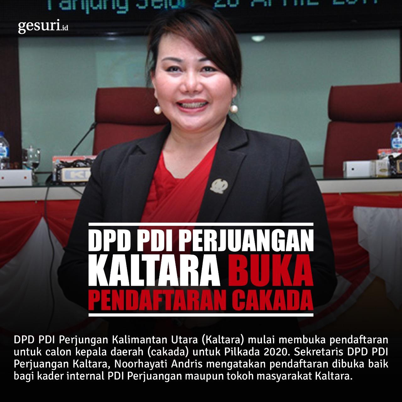 DPC PDI Perjuangan Kaltara Telah Membuka Pendaftaran Cakada