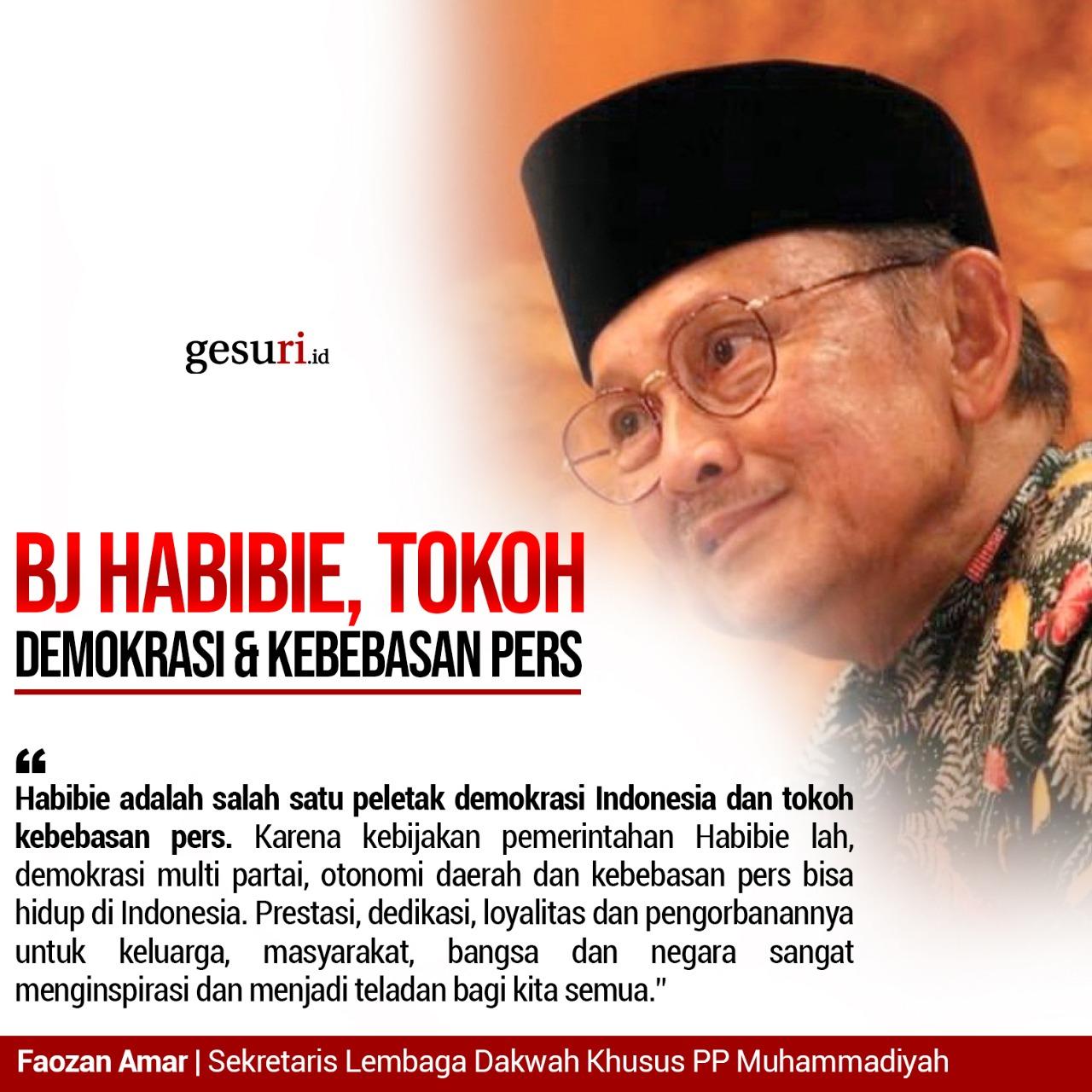 Bj Habibie Tokoh Demokrasi Kebebasan Pers