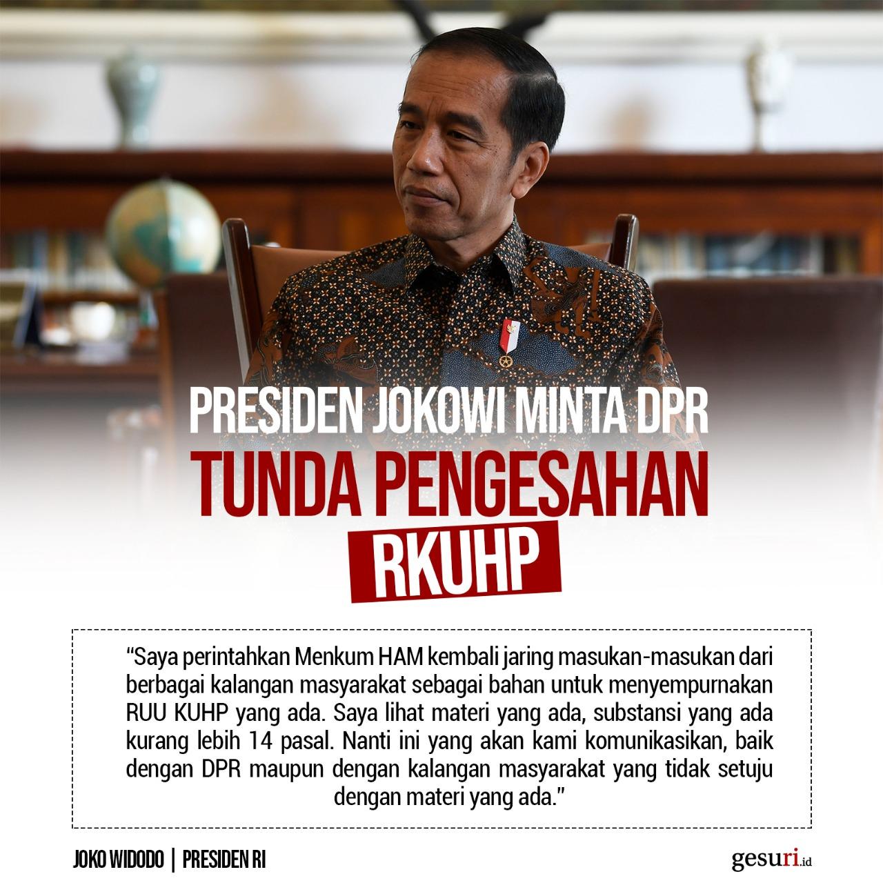 Jokowi Perintahkan Menkum HAM Jaring Masukan Masyarakat