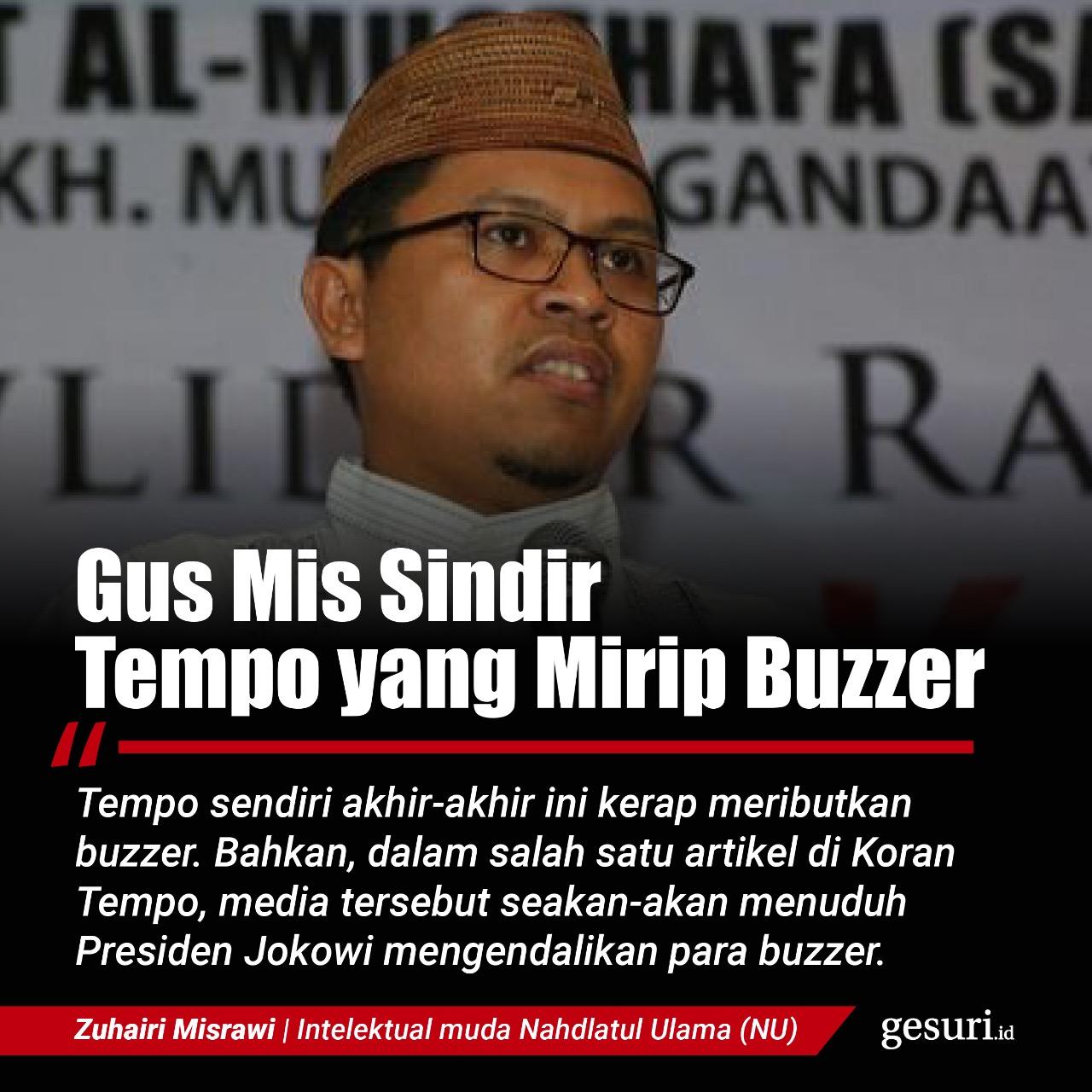 Zuhairi Misrawi Sindir Media Tempo yang Mirip Buzzer