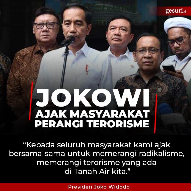 Jokowi Ajak Masyarakat Perangi Terorisme