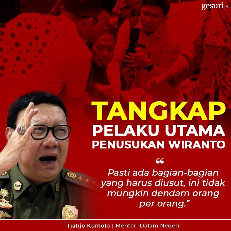Tjahjo: Tangkap Pelaku Utama Penusukan Wiranto