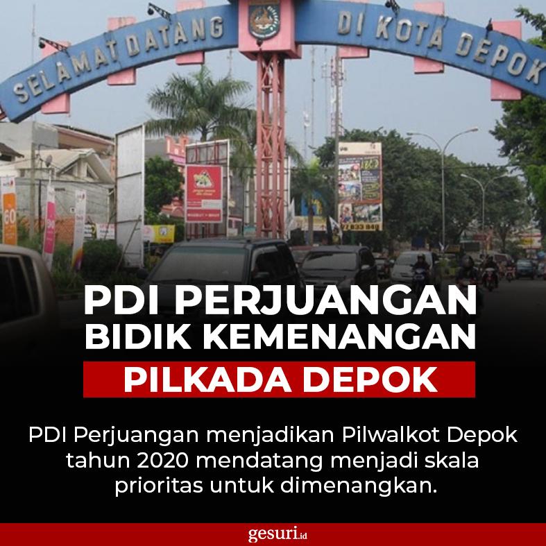PDI Perjuangan Jadikan Prioritas Pilwalkot Depok 2020