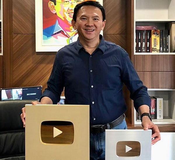 Ahok Raih Dua Penghargaan dari Youtube