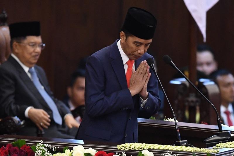 Pidato Perdana, Presiden Jokowi Tekankan Lima Prioritas