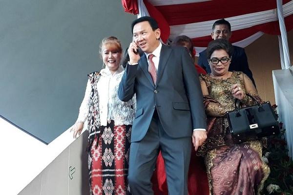 Ahok Mengaku Keluarga Saat Datang ke Pelantikan Jokowi