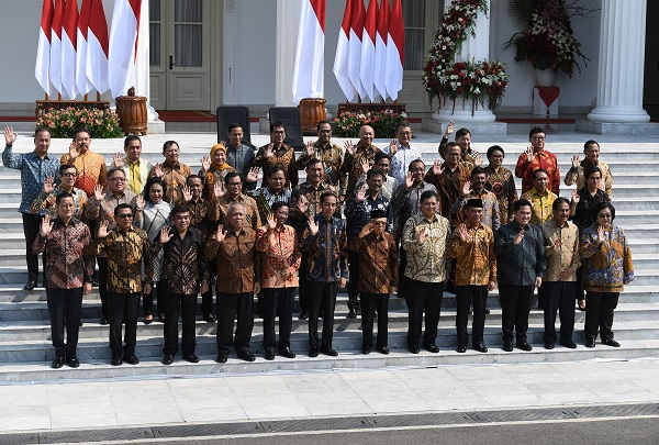 Berikut Nama dan Jabatan Menteri Kabinet Indonesia Maju
