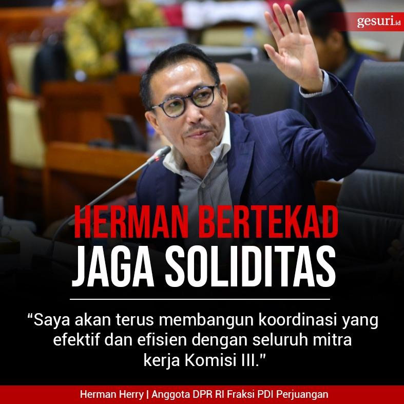 Sebagai Ketua, Herman Bertekad Jaga Soliditas di Komisi III