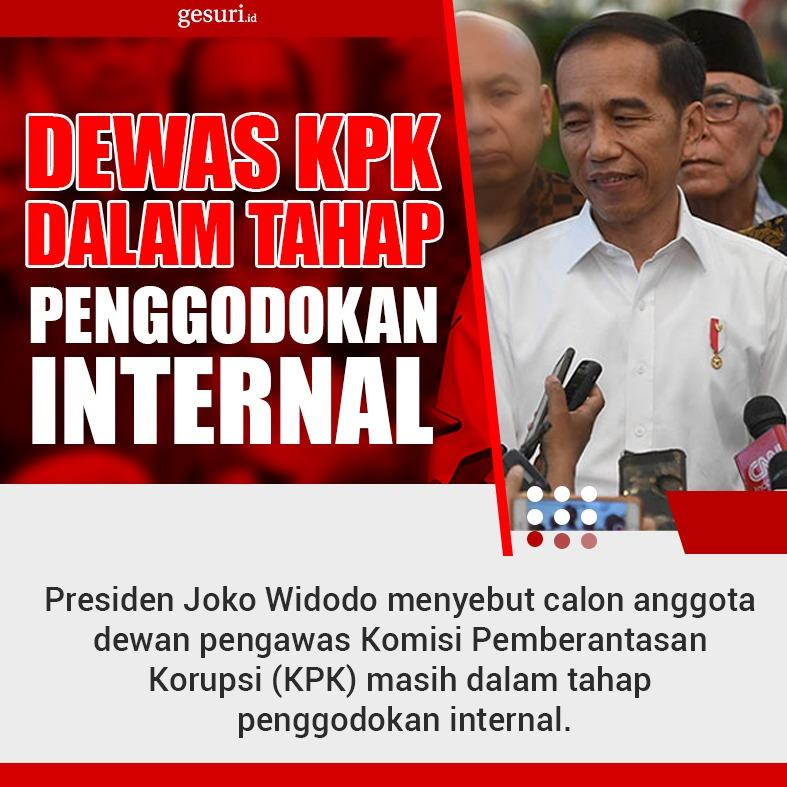 Dewas KPK Sedang Dalam Tahap Penggodokan Internal